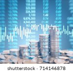 graph coins stock finance and... | Shutterstock . vector #714146878