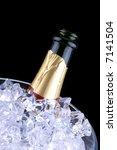 open champagne bottle in...   Shutterstock . vector #7141504