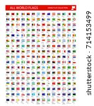 stand flag icon. all world... | Shutterstock .eps vector #714153499