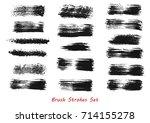 grungy brush strokes set over... | Shutterstock .eps vector #714155278