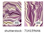 cover layouts collection with... | Shutterstock .eps vector #714159646