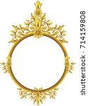 vector golden frame in...   Shutterstock .eps vector #714159808