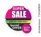 sale banner design. vector... | Shutterstock .eps vector #714160804