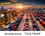 logistics and transportation of ... | Shutterstock . vector #714174649