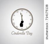 cinderella day vector...   Shutterstock .eps vector #714175138
