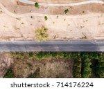 aerial view landscaped  asphalt ... | Shutterstock . vector #714176224