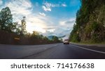 pov point of view   driving... | Shutterstock . vector #714176638