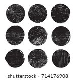 set of grunge post stamps... | Shutterstock .eps vector #714176908