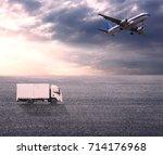 wide skies and wide asphalt... | Shutterstock . vector #714176968