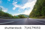 pov point of view   driving... | Shutterstock . vector #714179053