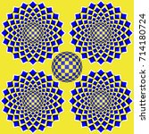 colorful optical illusion the... | Shutterstock .eps vector #714180724