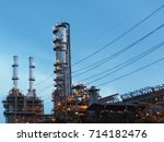 factory turn on the lights in... | Shutterstock . vector #714182476