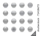 round silver buttons in various ... | Shutterstock . vector #71418673
