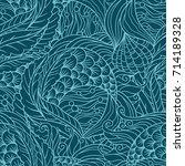abstract under sea flora...   Shutterstock .eps vector #714189328