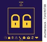 lock  unlock   set  icon