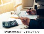 business man working at office...   Shutterstock . vector #714197479