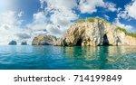 panorama of a sea shore part... | Shutterstock . vector #714199849