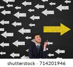 old way or new way concepts | Shutterstock . vector #714201946