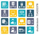 database and network icon set... | Shutterstock .eps vector #714202378
