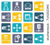 database and network icon set... | Shutterstock .eps vector #714202390