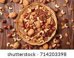 assorted nuts   Shutterstock . vector #714203398