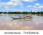 thailand lao local boat at... | Shutterstock . vector #714204616