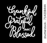 hand lettering teacher thankful ... | Shutterstock .eps vector #714208444