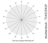 polar grid in degrees vector   Shutterstock .eps vector #714215419