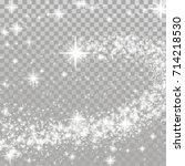happy merry christmas shooting... | Shutterstock .eps vector #714218530