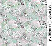 autumn leaves seamless pattern. ...   Shutterstock . vector #714225664