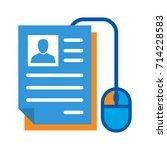 icon illustration for on line... | Shutterstock .eps vector #714228583