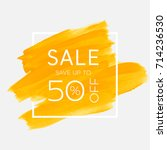sale save up to 50  off sign... | Shutterstock .eps vector #714236530