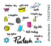 hand drawn about fintech icon... | Shutterstock .eps vector #714237463