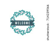 welcome word with decoration | Shutterstock .eps vector #714239566