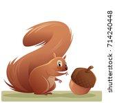 cartoon illustration of a red... | Shutterstock .eps vector #714240448