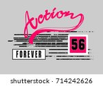aciton  t shirt graphic design | Shutterstock .eps vector #714242626