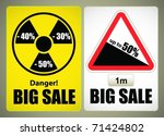 placard for sales promotion | Shutterstock .eps vector #71424802