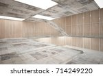 abstract  concrete and wood... | Shutterstock . vector #714249220