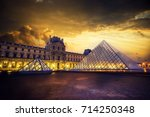 paris  france   december 09 ... | Shutterstock . vector #714250348