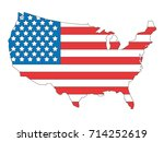 vector image of usa map | Shutterstock .eps vector #714252619