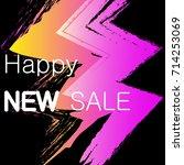 happy new sale web banners... | Shutterstock .eps vector #714253069