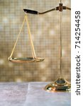 law concept. golden background | Shutterstock . vector #714254458