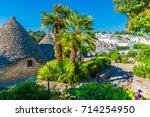 trulli village in alberobello... | Shutterstock . vector #714254950