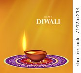 happy diwali wallpaper design...   Shutterstock .eps vector #714255214