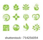 people and green organic logo...