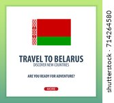travel to belarus. discover and ... | Shutterstock .eps vector #714264580