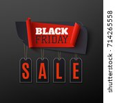black friday sale  abstract... | Shutterstock .eps vector #714265558