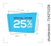 special offer 25  off concept | Shutterstock .eps vector #714271228