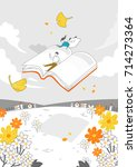 autumn drawing illustration | Shutterstock .eps vector #714273364