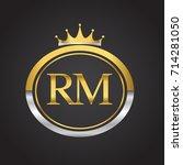 initial letter rm logotype... | Shutterstock .eps vector #714281050